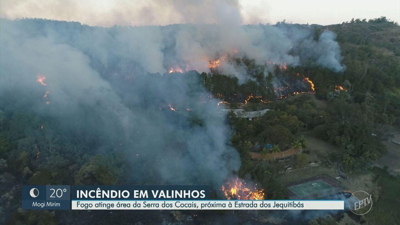 Reportagem completa do EPTV 2 de sábado sobre o incêndio na mata da Serra dos Cocais, em Valinhos