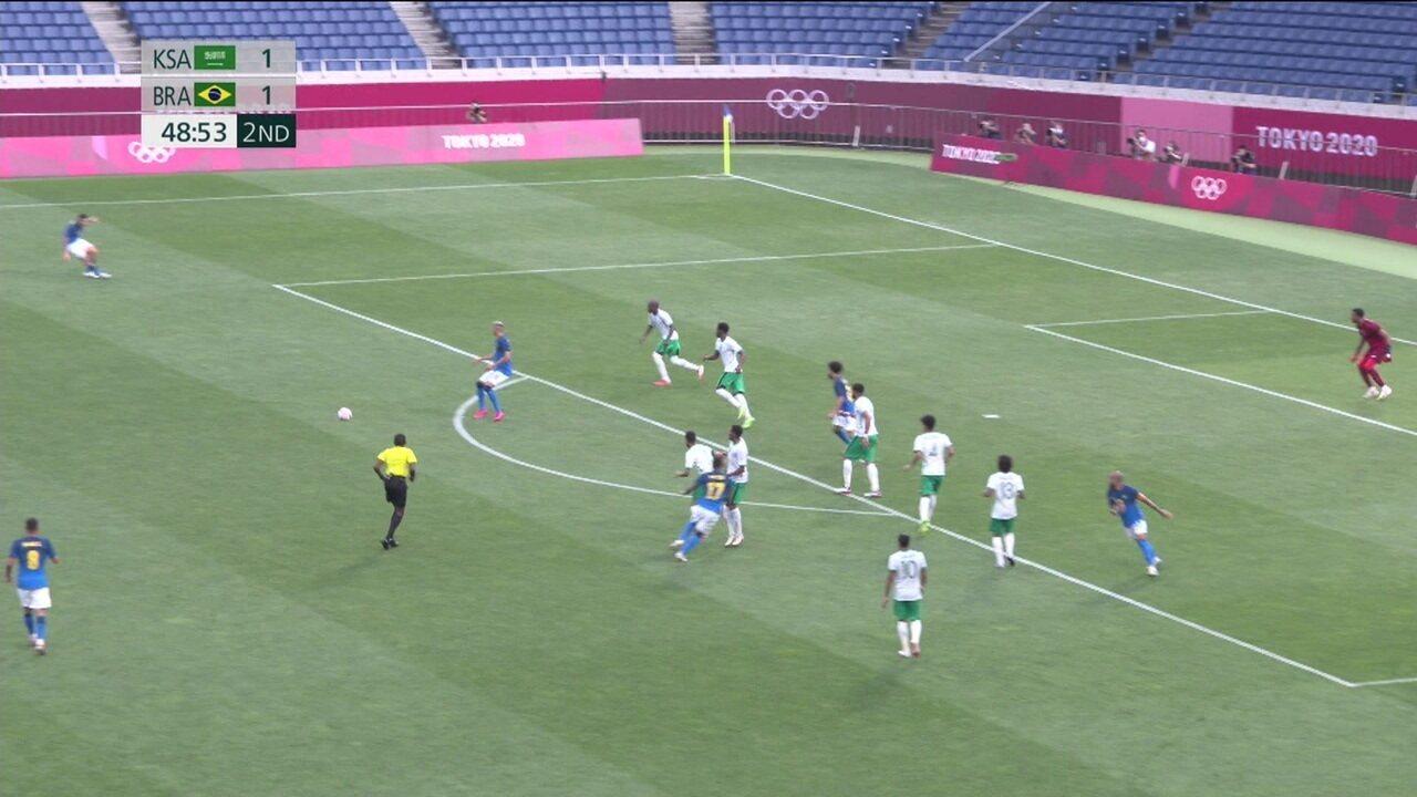 Melhores momentos: Brasil 3 x 1 Arábia Saudita pelo futebol masculino