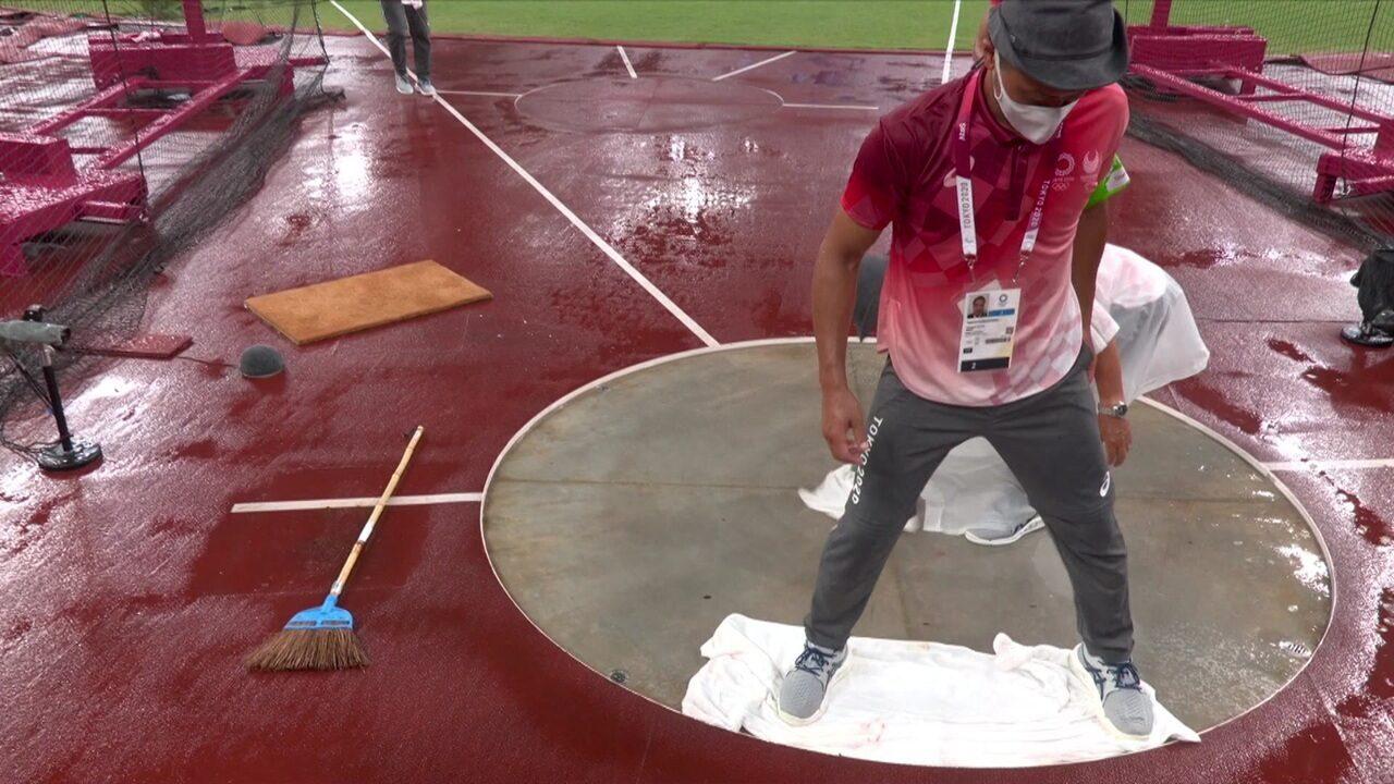 Chuva interrompe provas do atletismo em Tóquio - Olimpíadas de Tóquio
