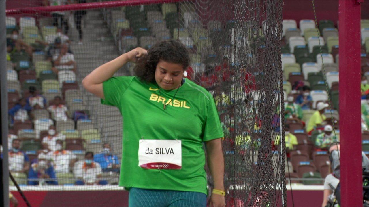 Izabela da Silva fica fora de disputa por medalha no lançamento de disco - Olimpíadas de Tóquio