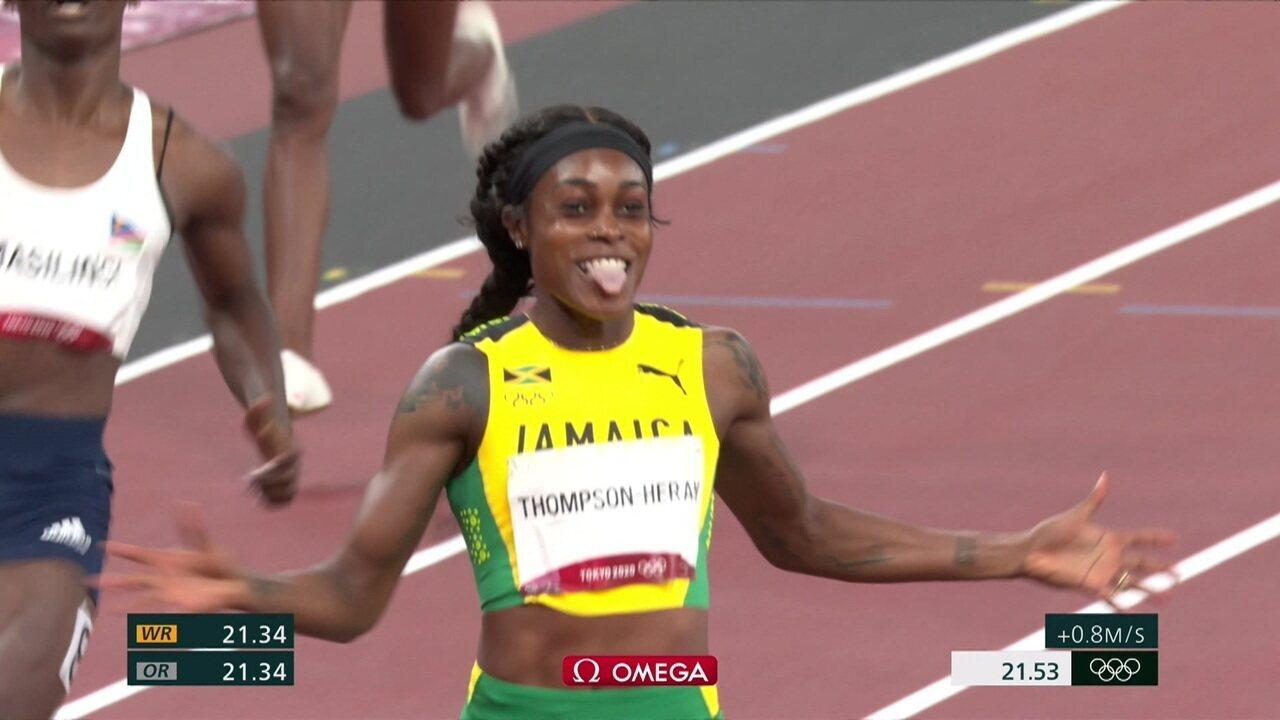 Jamaicana Elaine Thompson-Herah é ouro nos 200m rasos - Olimpíadas de Tóquio