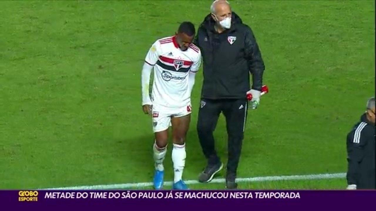 Metade do time do São Paulo já se machucou nesta temporada