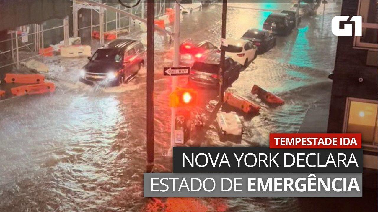 VÍDEO: Nova York declara emergência por causa de tempestade Ida