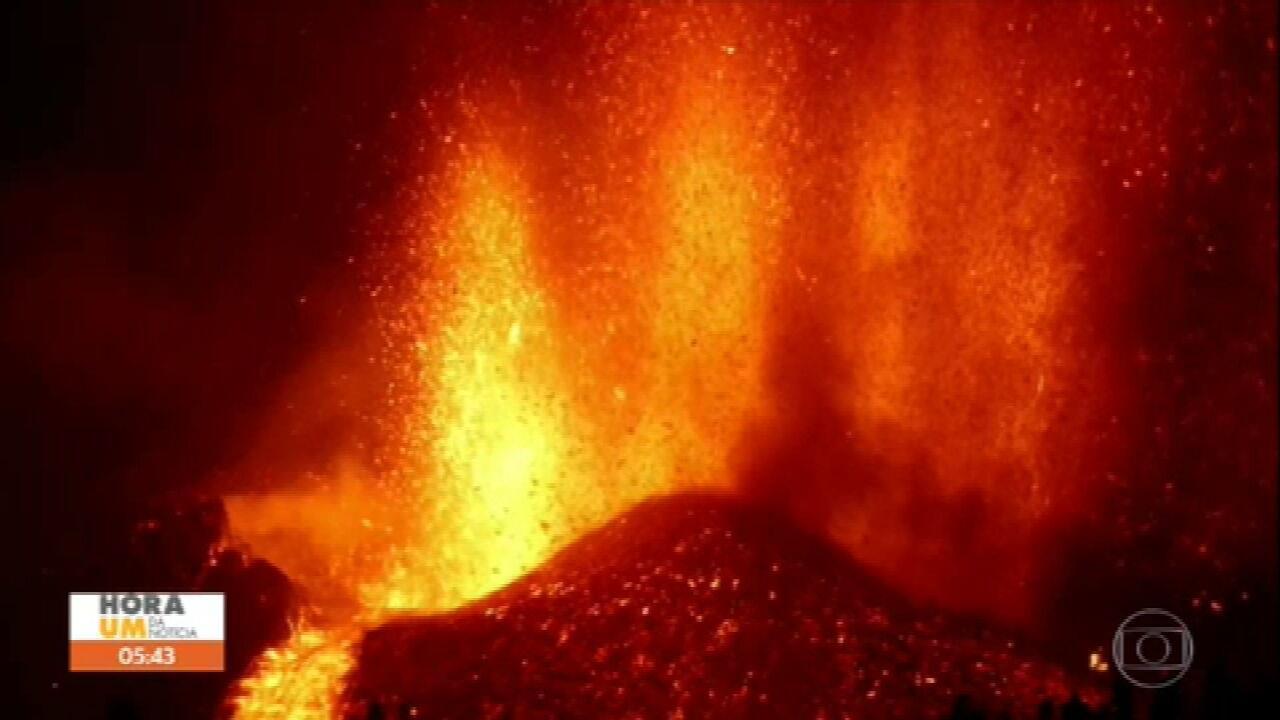 Lava do vulcão das Ilhas Canárias pode chegar ao mar e provocar explosões
