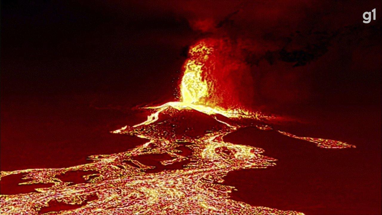 Vulcão de La Palma destrói 320 construções e 154 hectares de terra; VÍDEO mostra o caminho da lava   Mundo   G1