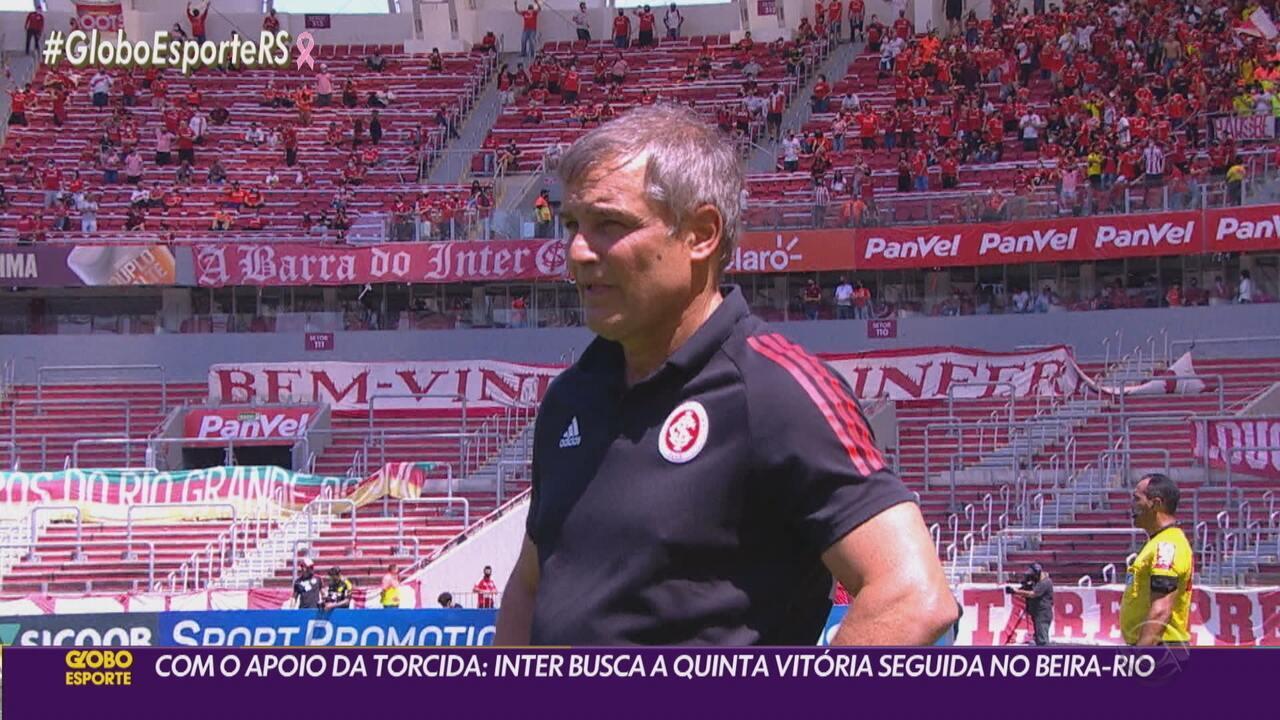 Com apoio da torcida, Inter tenta alcançar a quinta vitória seguida no Beira-Rio